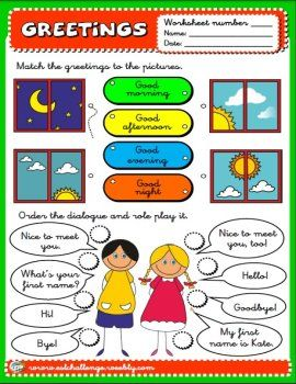 14 best greetings and introductions images on pinterest english greetings worksheet m4hsunfo