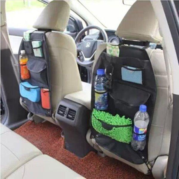 Black Multi-purpose Car Auto Seat Back Storage Bag Multi-Pocket Organizer