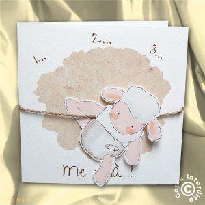 Faire-part de naissance saute mouton - NN12-015: