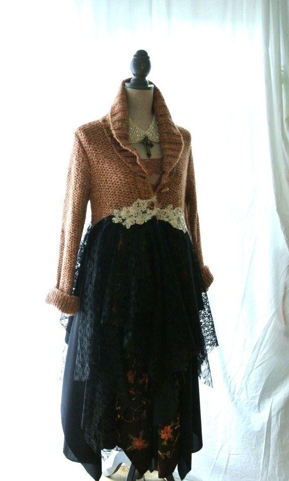 SALE Fall sweater bohemian duster boho jacket by TrueRebelClothing, $115.00