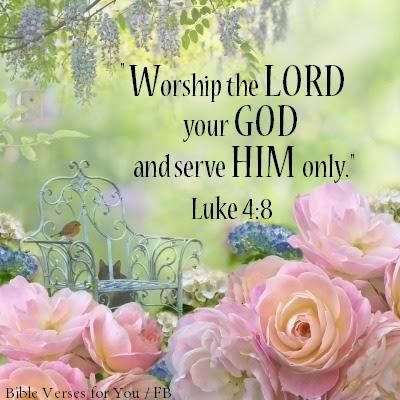 Worship the Lord your God and serve Him only. Luke 4:8