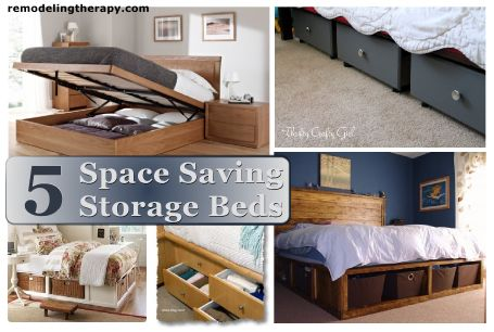 5 Space Saving Storage Bed Ideas...I need this!