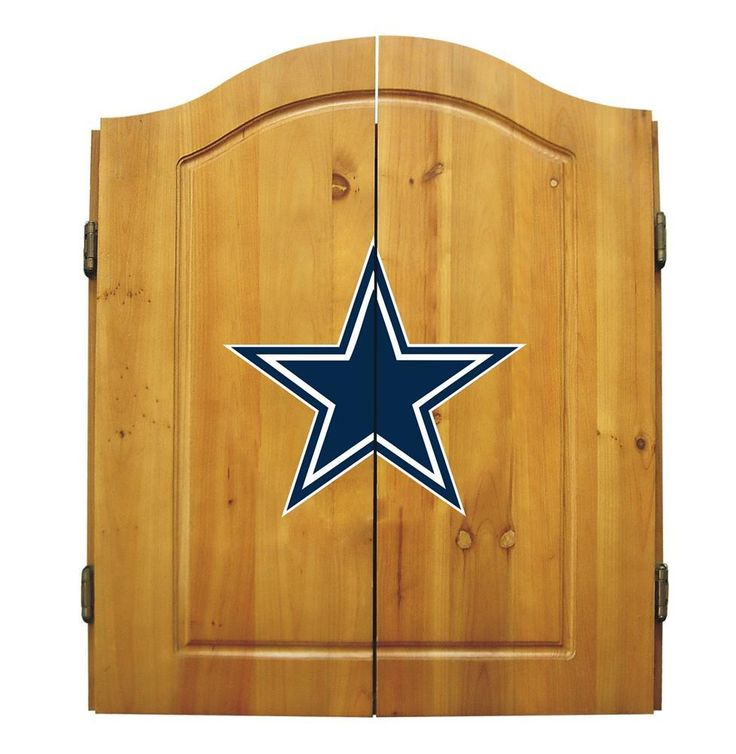 Dallas Cowboys Dart Board Cabinet & Bristle Dartboard Set