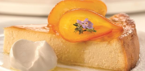 This light, fluffy orange cheesecake flan is the perfect accompaniment to your afternoon tea.