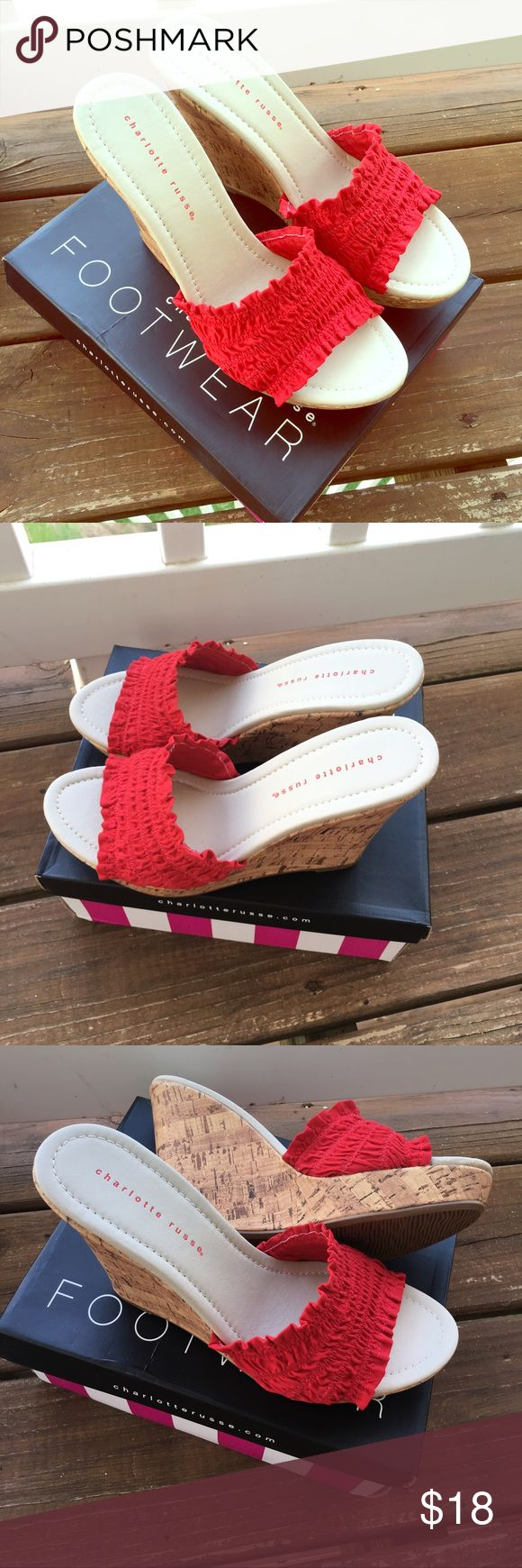 NWT 💖 Charlotte Russe Wedges! Cute Charlotte Russe Shoes! Perfect pop of color with any outfit or dress. Never worn still in box! Bundle to save 25%! 🎀 Charlotte Russe Shoes Wedges