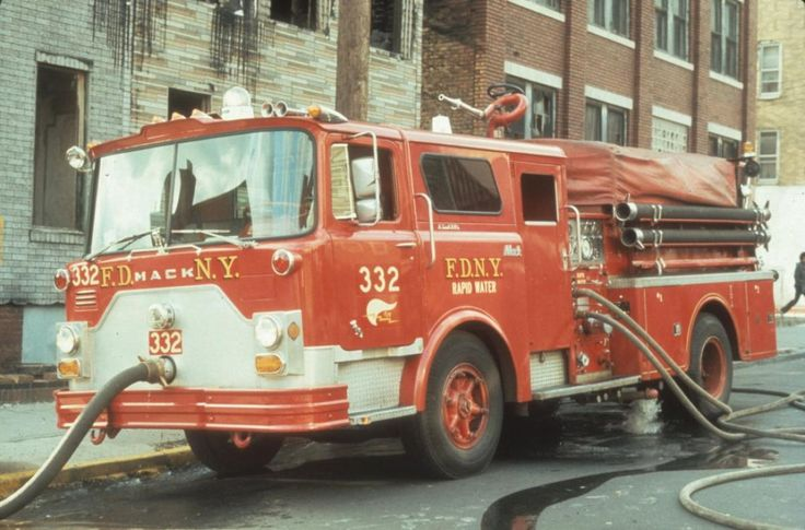 Back in 1972, FDNY Engine 332 looked like this compared to present day as they used Mack branded trucks.