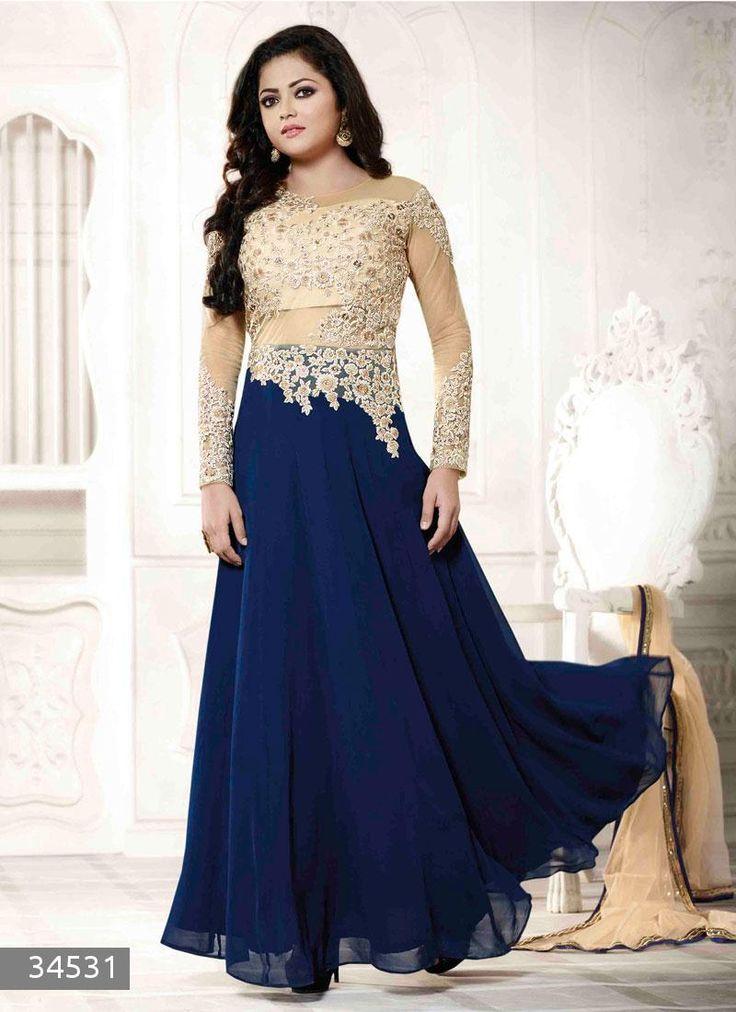 #buy #Madhubala & #Geet Serial actress #DrashtiDhami #DesignerDress #Suit & #SalwarKameez available only here (Catalog - 6186)
