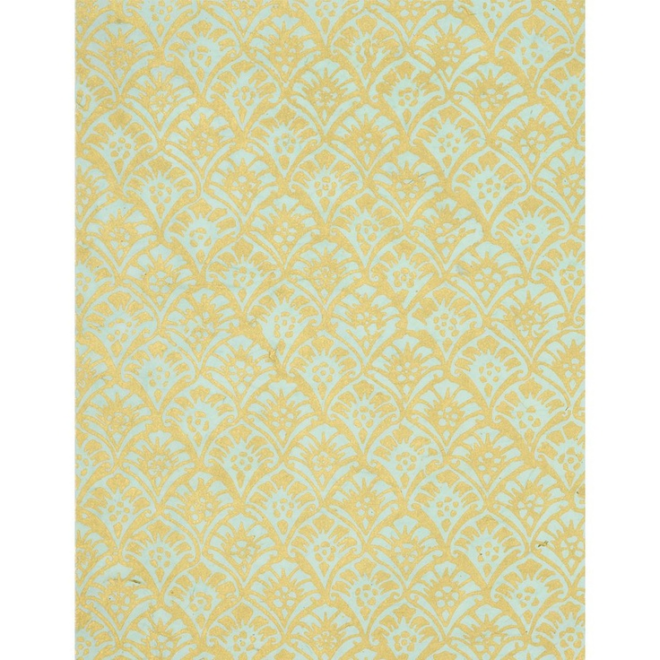 Gold Leaves on Turquoise Fine Paper - Paper Source: Small Framed, Framed Art, Pattern Inspiration, Paper Source, Bedroom Ideas