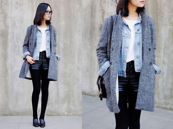 Grey (by IAN CHEN) http://lookbook.nu/look/4343253-Coat-Vintage-Jacket-Second-Hand-Shoes-Grey