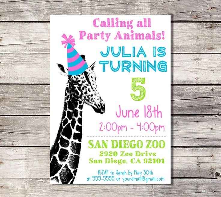 8 best Party Animal Zoo Birthday images on Pinterest | Party ...