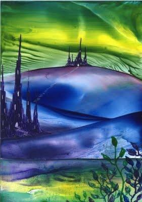 storm valley one of my encaustic art paintings