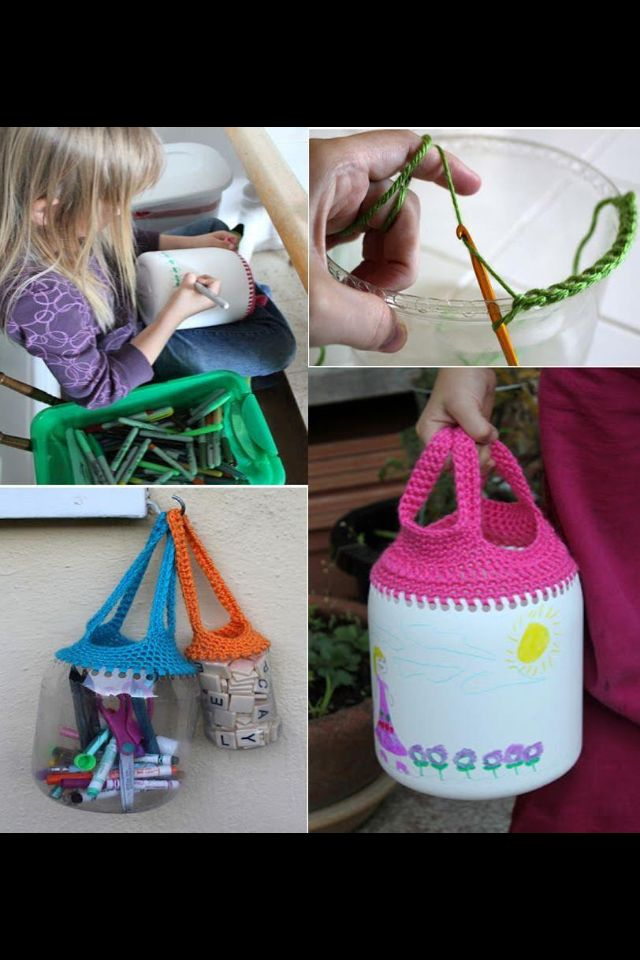 Plastic bottles should make these as foraging baskets!