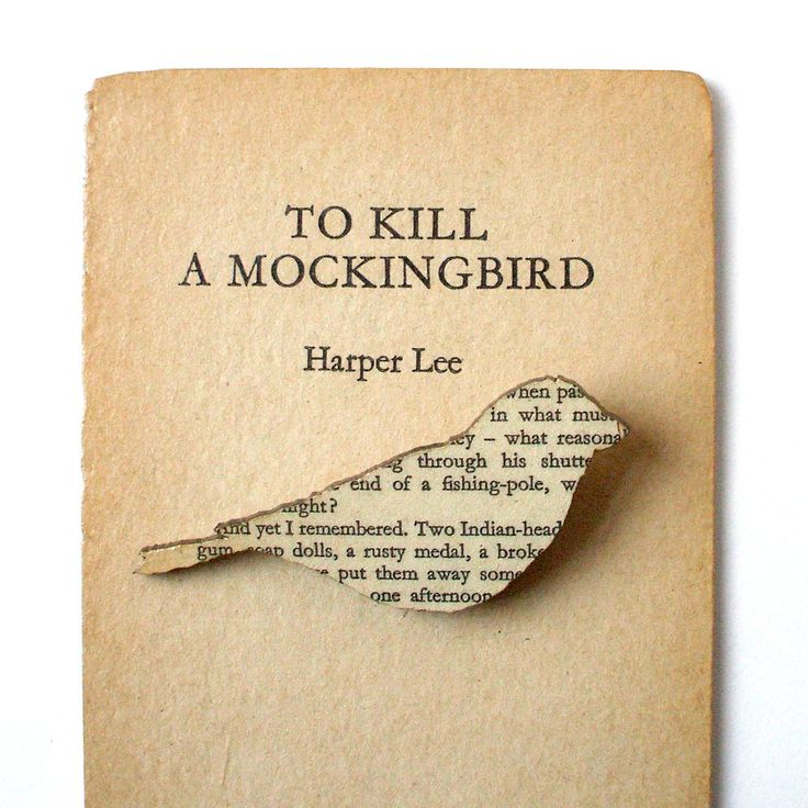 To Kill a Mockingbird - Finch brooch. Classic book brooches made with original pages.. £8.00, via Etsy.