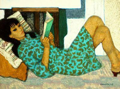 Czene, Béla (1911-1999) Olvasó lány, 1968