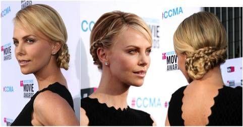 Charlize, braided bun