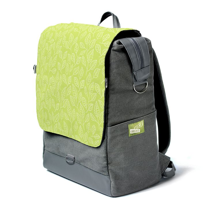 You and Laine Avenue are quite a pear. You are looking at the most unique backpack on the whole entire planet. Really. It's roomy. It holds all your stuff with our widemouth zip top. It protects your laptop or tablet with a padded sleeve, and best of all, The Crossbody Convertible Flap zips off to become a purse, (with the included cross body strap) for when you need just a few of your favorite things things and not all your stuff.