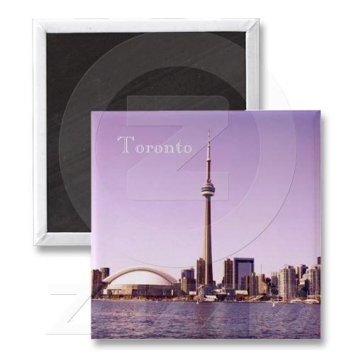 Toronto morning skyline magnet