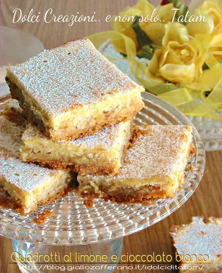 Quadrotti al limone e cioccolato bianco -  Squares with lemon and white chocolate
