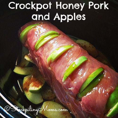 Crockpot Honey Pork and Apples