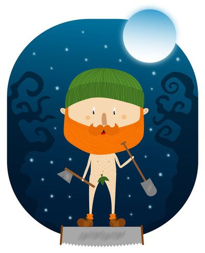 Night Lumberjack - bearded and naked :)