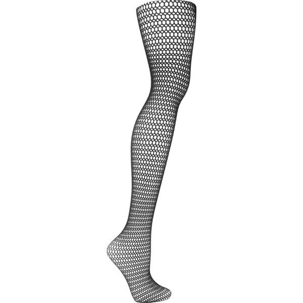 Wolford Fee fishnet tights ($65) ❤ liked on Polyvore featuring intimates, hosiery, tights, black, ripped stockings, wolford stockings, ripped tights, wolford and wolford pantyhose