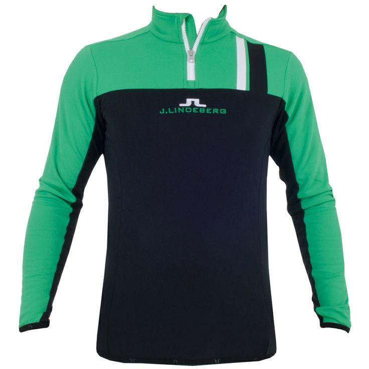J Lindeberg Jarvis T-Neck Brushed Fieldsensor Green #golf #fashion #trendygolf #jlindeberg