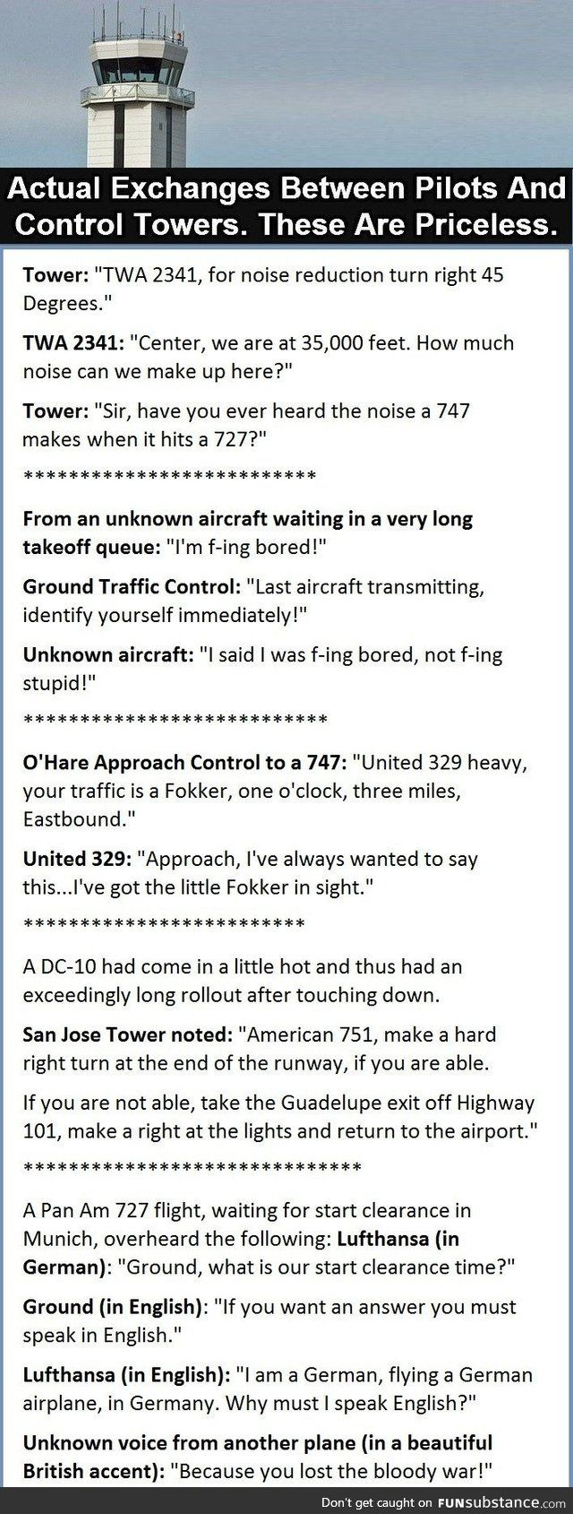Funny airport tower talks