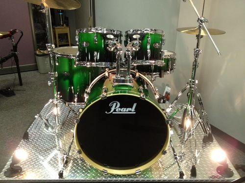 Pearl Vision Limited Edition Viridian Green Fade Drum Set 10 12 16 22 Snare New | eBay