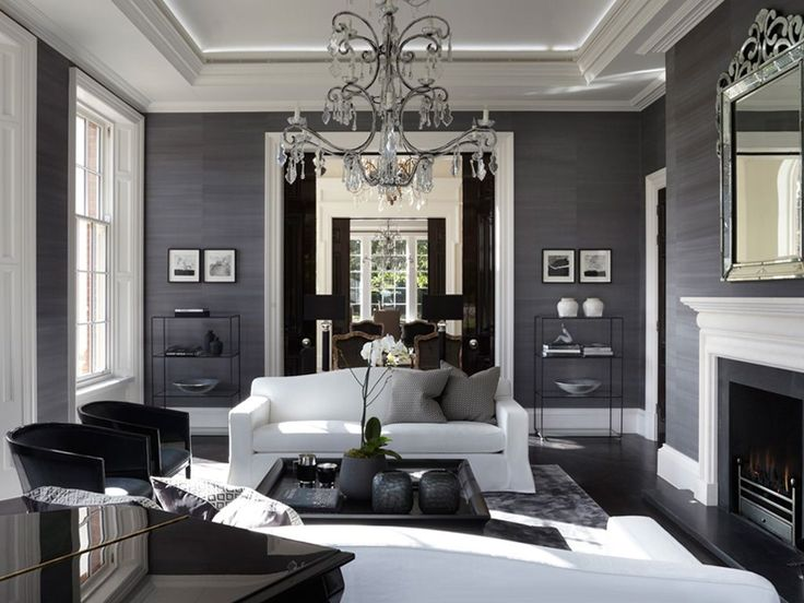 The 25 best black and grey wallpaper ideas on pinterest Grey wallpaper living room