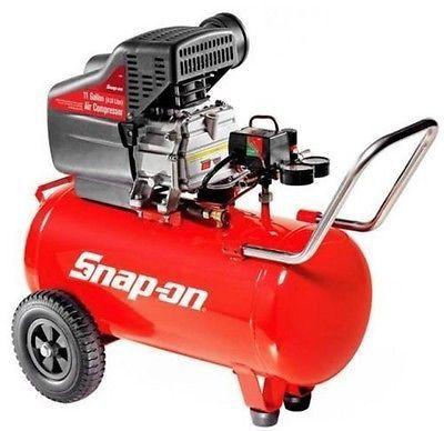 Snap-On 11 Gallon Portable Garage Auto Shop Horizontal Air Compressor Tool Shed