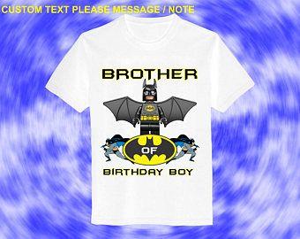 Batman Iron On Transfer Brother Birthday Shirt DIY Batman Boy