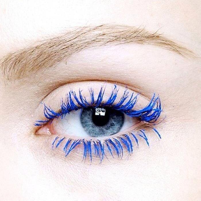 Blue Mascara Looks