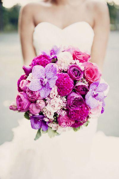 gorgeous purple / pink #wedding bouquet
