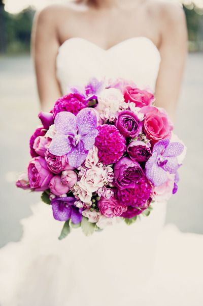 Vibrant pops of color: http://www.stylemepretty.com/2014/06/24/our-favorite-color-palettes-for-summer-weddings/