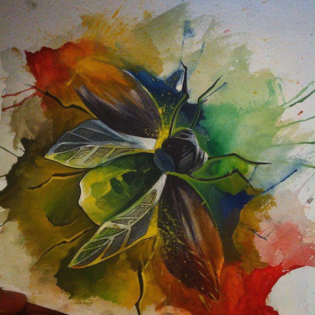 #watercolor #watercolortattoo #watercolorsketch watercolor tattoo sketch bug