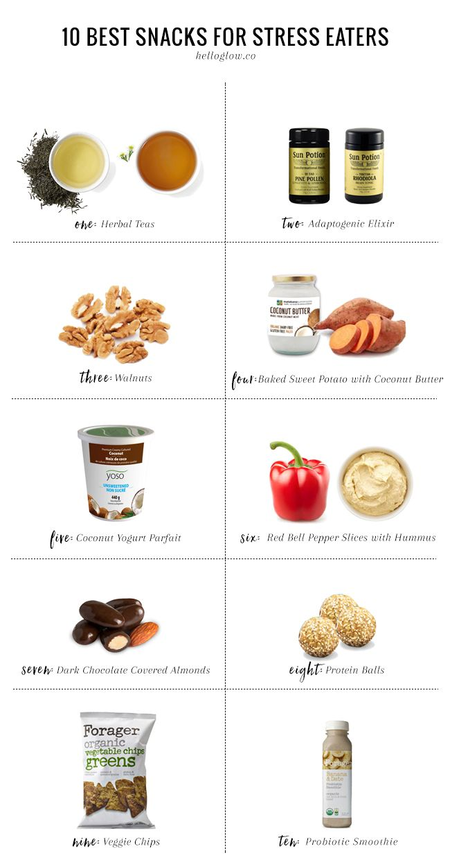 """I had a bad day; I deserve a treat!"" If that sounds familiar, this list of the best snacks for stress eaters will help you cope in a healthier way."