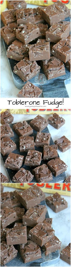 Toblerone Fudge! ❤️ Sweet, Easy, DELICIOUS Toblerone Fudge to end all Toblerone Cravings. Nutty, No-Bake, Delectable treat for everyone!
