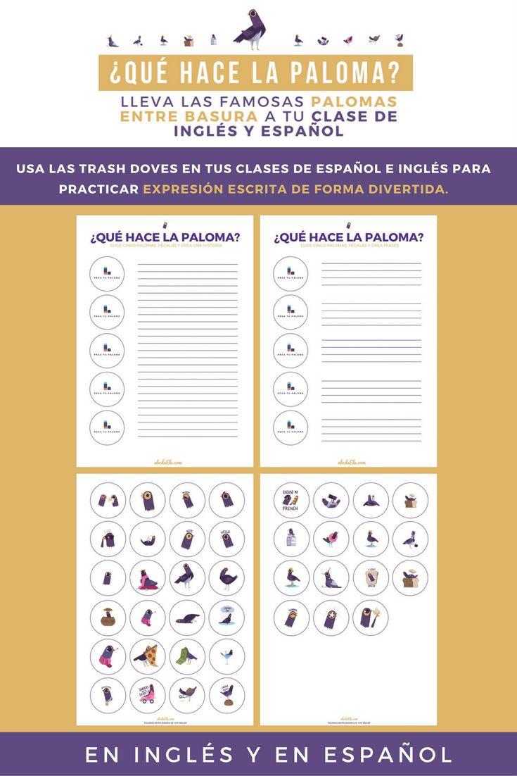 USA LAS TRASH DOVES EN TUS CLASES DE ESPAÑOL E INGLÉS PARA PRACTICAR EXPRESIÓN ESCRITA DE FORMA DIVERTIDA.