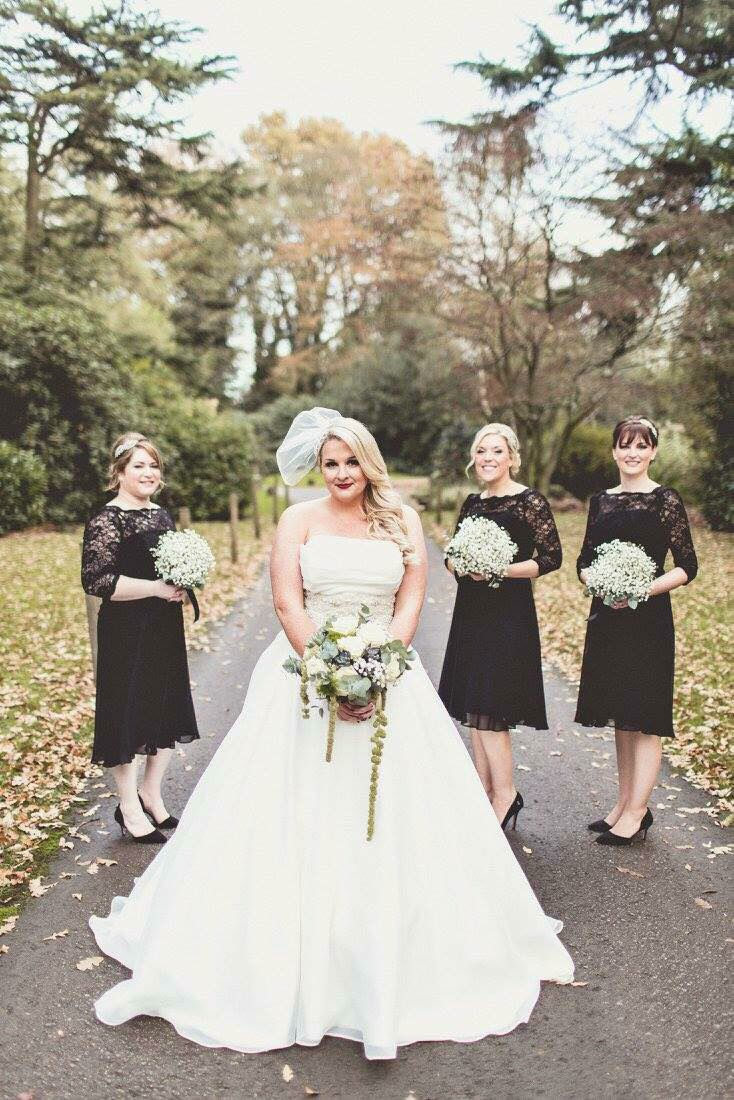 budget wedding photography west midlands%0A Justin Alexander Wedding Dress for an Autumn Vintage Glamour DIY Wedding  with Lace by Jenny Packham Bridesmaid Dresses and Navy Blue Paul Smith Suit  with