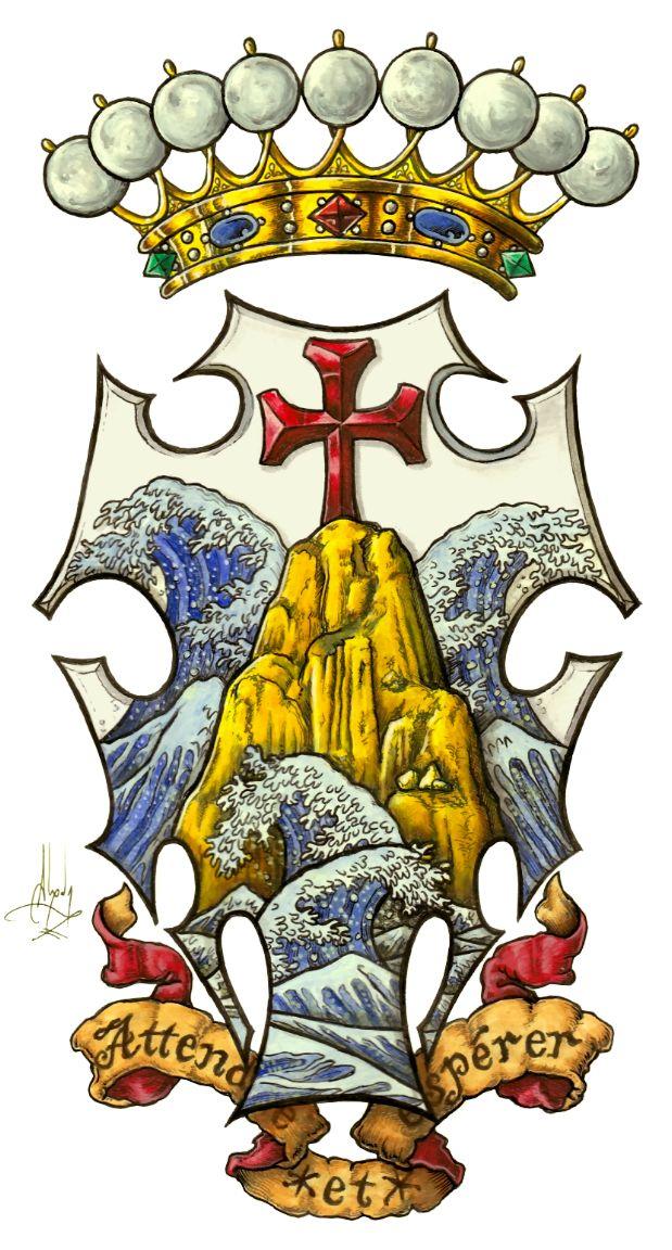 coat of arms of the count of monte cristo el conde de