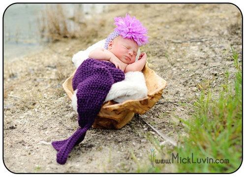 How cute is this little purple mermaid????