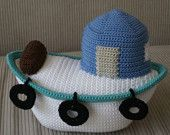 Fishing boat crochet pattern (Etsy), why are there so few boat patterns for crochet!?