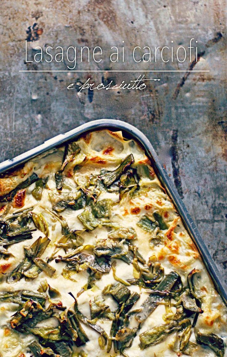 la pancia del lupo: Lasagne ai carciofi e prosciutto