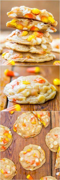 Candy Corn and White Chocolate Softbatch Cookies ~ Candy Corn and White Chocolate Softbatch Cookies