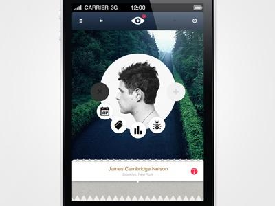 Menu circle for Iphone
