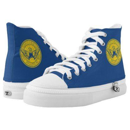 #Flag of Atlanta Georgia High-Top Sneakers - #womens #shoes #womensshoes #custom #cool