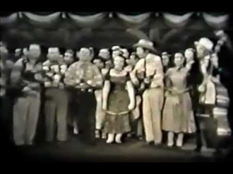 Rare Hank Williams, Carter Family, Acuff Video - 1952 - Glory Bound Train - singing a camp meeting song
