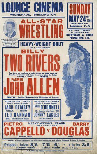 Vintage wrestling posters