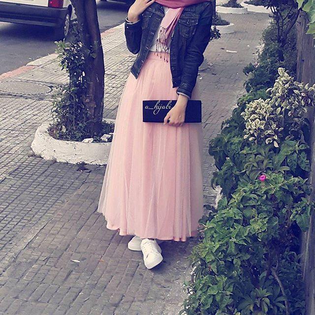 ❤️️ #pink #hijab #cute