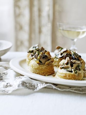 Perfect for a starter or a canape try this recipe for creamy mushroom vol-au-vents from Jamie Oliver, a wonderful winter warmer whatever the occasion.